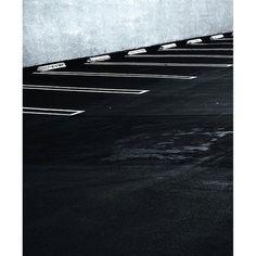 Found Abstraction:  Empty parking lot South Lake Ave Pasadena CA #foundabstraction #blackandwhite #pasadena #parkinglot #parking #asphalt