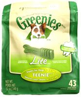Greenies Dental Chews LifeStage Lite Teenie Treats for Dogs 5-15 lbs