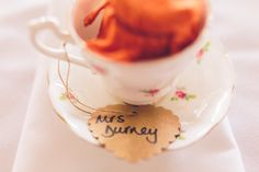 Wedding Tea Cup Place Setting Name http://www.andyli-photography.com/