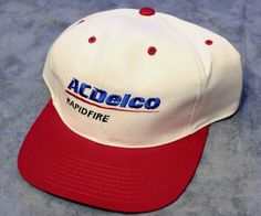 AC Delco Rapid Fire Western Auto Snapback Trucker Hat Cap Embroidered Red Blue #UnitedHeadwearGroup #Snapback
