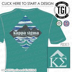 TGI Greek - Kappa Sigma - PR - Greek Apparel #tgigreek #kappasigma