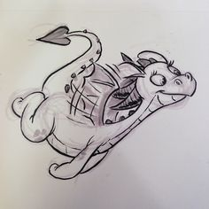 I guess I've never drawn a girl dragon before #dragon #breaksketch #brushpen #fantasycreature #cartoons