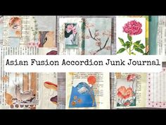 Asian Fusion Accordion Junk Journal (NO SEWING) - Part 1/Digital Collage Club Design Team Project - YouTube