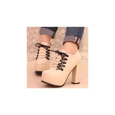 I just love these Lace-Up Platform Shoe Boots (€43)