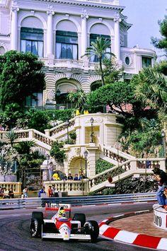 Ayrton en Mónaco