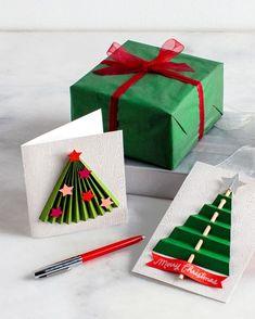 Weihnachtskarten basteln DIY Ideen