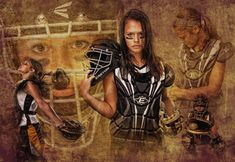 Artistic sport montage as artwork for high school senior picture | Frievalt Photography
