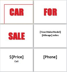 for sale template word