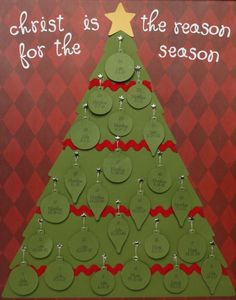 Paper Advent Calendar with Bible scriptures for each day