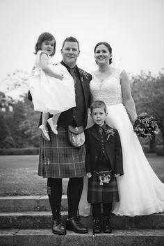 My family following our ceremony at Kirknewton house stables
