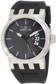 Invicta Women's 10411 DNA Urban Black Dial Black Silicone Watch. Japanese quartz movement. Mineral crystal; brushed stainless steel case; black silicone strap. Date function. Black dial with grey and black hands; grey hour markers; luminous. Water resistant to 330 feet (100 M): suitable for snorkeling, as well as swimming, but not diving.
