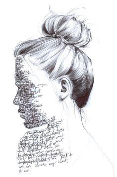 Anyone's Ghost by Grace Easton - Art & Inspiration - Art Arte Gcse, Gcse Art, Painting & Drawing, Deep Drawing, Figure Drawing, Drawing With Words, Drawing Of Girl Crying, Art With Words, Pencil Painting