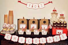 HOT CHOCOLATE BAR Printable Party Kit by EnchantDetailsEvents