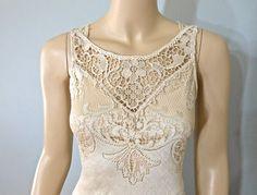Lace Bohemian Wedding Dress Handmade Crochet by MuseClothing