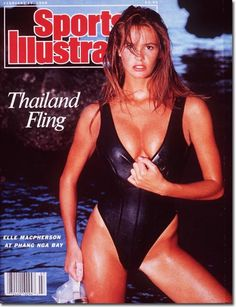 On the Cover :Elle Macpherson, 1988 Sports Illustrated Swimsuit February 15, 1988   Volume 68, Issue 7 Photographed by Mark Hispard