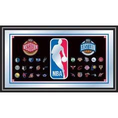 "Trademark Commerce NBA1500-NBA 15""H NBA Framed Logo Mirror"