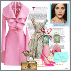 """""""pink"""" by fodor-raluca on Polyvore"""