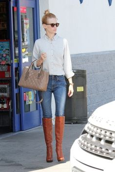 January Jones street style. head to toe.