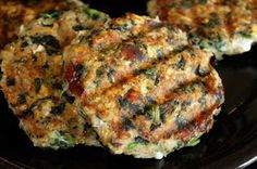 Spinach&Feta Turkey Burgers