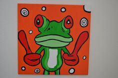 Ik schilder heel graag. Het liefst met veel vrolijke kleuren.