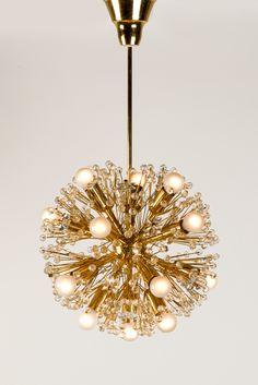 Emil Stejnar; Snowball lamp for Rupert Nikoll, Austria, 1960s. Diam. 40cm