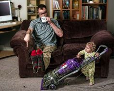 Hilarious Dad-Daughter Portraits - World's Best Father by Dave Engledow is Quite the Opposite.