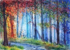 Forestam - Anna Armona is a multi-disciplined artist based in Ukraine who created the wonderful watercolor landscape paintings with detailed and beautiful colors.