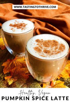 Looking for the perfect vegan fall drink? Look no further than this healthy Vegan Pumpkin Spice Latte! This vegan fall coffee recipe comes together in just 10 minutes and makes the perfect pairing with breakfast or as a dessert! #vegan #vegetarian #plantbased #PSL #veganPSL #pumpkinspicelatte #veganpumpkinspicelatte #healthypumpkinspicelatte #veganlatte #latte #falldrink #veganfalldrink #mealprep #veganmealprep #healthyPSL #starbucks#fallstarbucks #veganstarbucks Healthy Holiday Recipes, Vegan Recipes Easy, Vegan Starbucks, Healthy Vegan Desserts, Intuitive Eating, Vegan Pumpkin, Pumpkin Spice Latte, Coffee Recipes, Easy Vegan Recipes