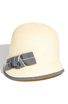 Tarnish Short Brim Cloche in Natural Navy by Nordstrom (I hate hats in general, but I <3 me some cloches!)