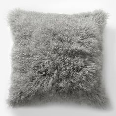 Set of 2 West Elm Mongolian Lamb Fur Pillows in Platinum for sale in great condition! cotton backing. Each lamb fur is unique; Size: square *comes with insert! Bed Throws, Bed Pillows, Bed Linens, Mongolian Fur Pillow, West Elm Bedding, Modern Pillows, Textiles, Bedding Shop, Homes