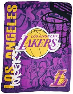 Los Angeles Lakers 50x60 Fleece Blanket - Hard Knock Design by Hall of Fame Memorabilia. Los Angeles Lakers 50x60 Fleece Blanket - Hard Knock Design. 50x60.