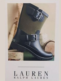 A true designer challenge, Ralph Lauren Sets out to conquer the rubber boots and Galoshes venue, so Crocs and others beware. But far more correct to consider these Rain Boots if carrying a famous d...