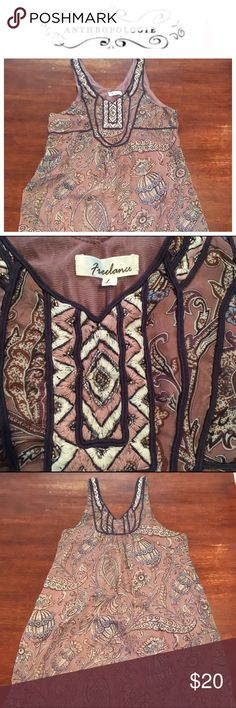 Anthropologie Freelance dress/tunic Freelance tunic/mini dress. Color is true in picture 2. Adorable with Jean jacket over. EUC Anthropologie Tops Tunics