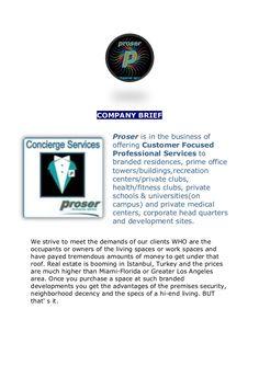 proser-company-brief by Melih Tuzmen via Slideshare