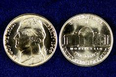 During World War II the countries reserves of nickel were needed for the war effort so the Jefferson Nickel was struck in silver and to identify this special strike the nickel features a large mint mark above the Monticello on the reverse! These 35% silver nickels were only struck from 1942 – 1945.