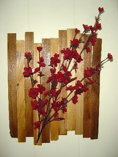 DIY wall-hanging...I think this could really open up a small room.