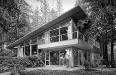 Porter Residence:  West Vancouver, BC. Architect John C. Porter. Year: 1955. Photo: Selwyn Pullan.