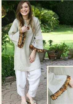 Super moda casual chic ideas necklaces Ideas is part of Pakistani dress design - Simple Pakistani Dresses, Pakistani Fashion Casual, Pakistani Dress Design, Pakistani Outfits, Indian Fashion, Stylish Dress Designs, Stylish Dresses, Simple Dresses, Casual Dresses