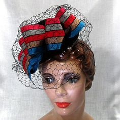 Late 1930s-early 1940s cocktail hat via House of Nines.