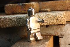 Lego pendant. Streling-silver 925. Handmade (Lost vax) by Goldsmith Sanna Hytönen, Finland. http://www.kultaseppasannahytonen.com/