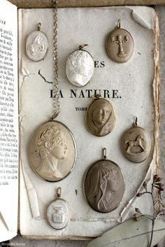 Beautiful collection of antique cameos