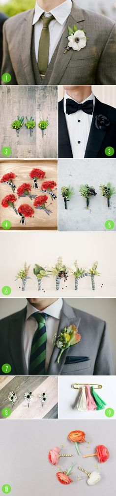 Top 10: Boutonnieres | We choose #7!
