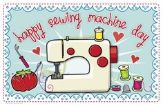 {Happy Sewing Machine Day}  Re-pin if you love your sewing machine! #sewing