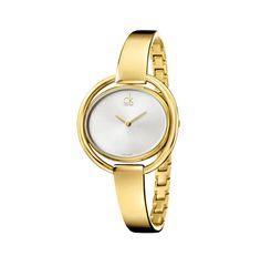 Calvin Klein Impetuous Reloj dama, cuarzo, carátula blanca, extensible PVD amarillo $5,250.00