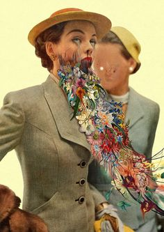 Colagens surreais inspiradas em Nietzsche