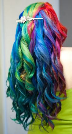I just can't get over how rainbow looks, esp in super saturated vivid hues.     Gorgeous Rainbow Curls