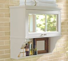 for over the toilet - Matilda Wall Cabinet 25w x 10d x 22.5h (Pottery Barn)