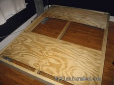 INstructions how to build a platform bed.