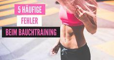 Das Bauchtraining gehört zu jedem Workout dazu. So einfach und kurz das effektive Training der Bauchmuskeln auch sein kann, wird esdoch oft genug am Ende jedes Trainings vergessen oder nur halbherzig ausgeführt. Diese 5 Fehler beim Bauchtraining für Anfänger solltest du unbedingt vermeiden...