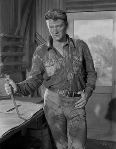 John Wayne in jeans Premium Art Print